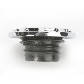Drag Specialties Chrome Non-Vented Straight-Cut Gas Cap - 0703-0390