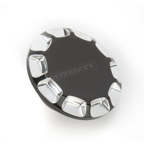 Drag Specialties Gloss Black Vented Straight-Cut Gas Cap - 0703-0393