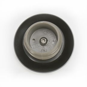 Drag Specialties Gloss Black Non-Vented Straight-Cut Gas Cap - 0703-0395