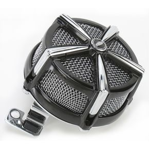 Kuryakyn Black/Chrome Hi-Five Mach 2 Air Cleaner Kit - 9533