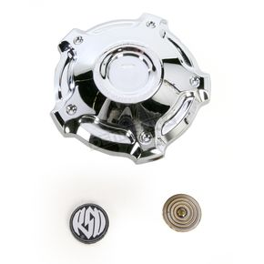 Roland Sands Design Chrome Misano Billet Aluminum Gas Cap - 0210-2029-CH