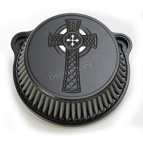 LA Choppers Black Celtic Cross Air Cleaner Kit - LA-2397-01B