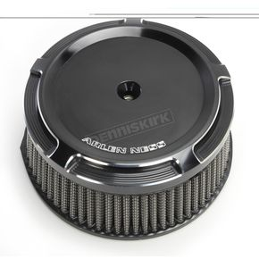 Arlen Ness Black Big Sucker Stage 1 Air Filter Kit w/Beveled Cover - 50-841