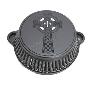 Black Celtic Cross Air Cleaner Kit - LA-2397-03B