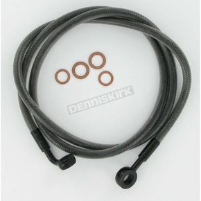 Magnum Black Pearl Braided Custom Single-Disc 48 in. Brake Line w/180 Degree Top Angle - 46448