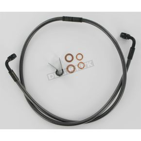 Magnum Black Pearl Designer Series Swivel-Fit Single Disc Front 56 in. Brake Line w/90 Degree Banjo Bend - SWB562090