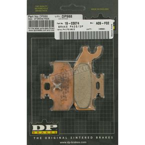 DP Brakes Standard Sintered Metal Brake Pads - DP988
