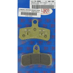 Lyndall Racing Brakes Gold-Plus  Brake Pads - 7256-GPLUS