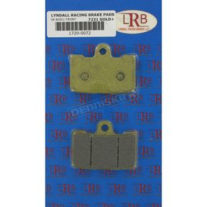 Lyndall Racing Brakes Gold Plus Organic Brake Pads - 7231-GPLUS