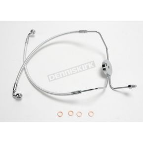 Magnum Custom Sterling Chromite II Designer Series Dual Disc Lower Front Brake Line - 37009