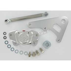 GMA Engineering Custom 2-Piston Rear Classic Clear Anodized Brake Caliper for Rigid Frames w/10 in. Rotor - GMA-R10