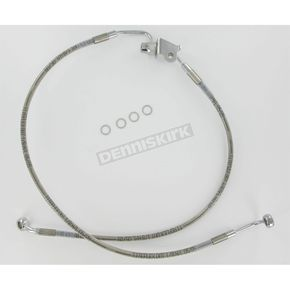 Drag Specialties Rear Standard Length Clear-Coated Braided Stainless Steel Brake Line Kits - 1741-1789