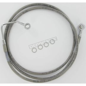 Drag Specialties Front Clear-Coated Braided Stainless Steel Brake Line Kits - 1741-1791