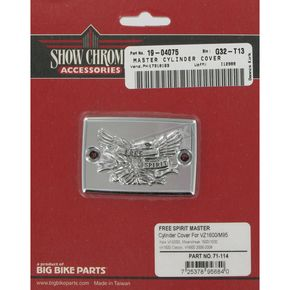 Show Chrome Free Spirit Master Cylinder Cover - 71-114