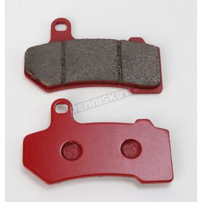 Lyndall Racing Brakes Front or Rear Red Plus Organic Brake Pads - 7254-REDPLUS