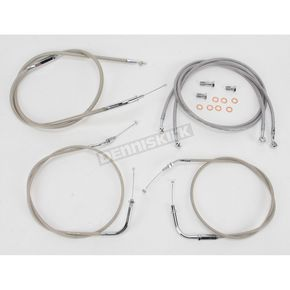 Baron Custom Accessories + 2 in. Handlebar Cable and Line Kit - BA-8021KT-2