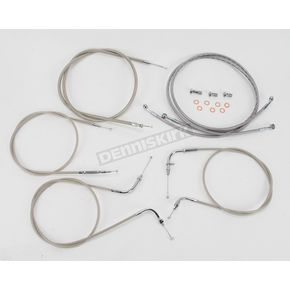 Baron Custom Accessories 12 in. Handlebar Cable and Line Kit - BA-8048KT-12