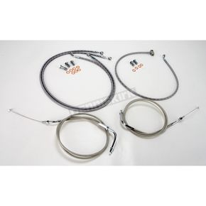 Baron Custom Accessories 12 in. Handlebar Cable and Line Kit - BA-8059KT-12