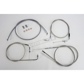 Baron Custom Accessories 18 in.-20 in. Ape Hanger Handlebar Cable and Line Kit - BA-8014KT-18
