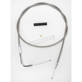 Drag Specialties Alternative Length Stainless Steel Throttle Cable for Custom Height/Width Handlebars - 0650-1079