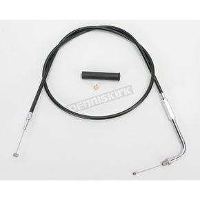 Drag Specialties Alternative Length Black Vinyl Throttle Cable for Custom Height/Width Handlebars - 0650-1086