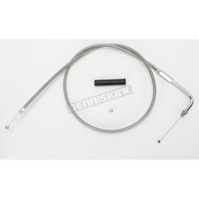 Drag Specialties Alternative Length Stainless Steel Throttle Cable for Custom Height/Width Handlebars - 0650-1087
