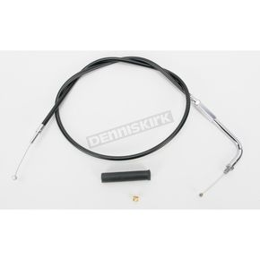 Drag Specialties Alternative Length Black Vinyl Throttle Cable for Custom Height/Width Handlebars - 0650-1092