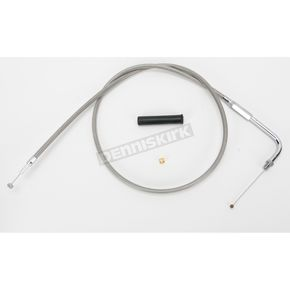 Drag Specialties Alternative Length Stainless Steel Throttle Cable for Custom Height/Width Handlebars - 0650-1101