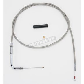 Drag Specialties Alternative Length Stainless Steel Idle Cable for Custom Height/Width Handlebars - 0651-0626