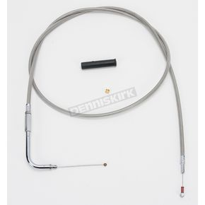 Drag Specialties Alternative Length Stainless Steel Idle Cable for Custom Height/Width Handlebars - 0651-0628