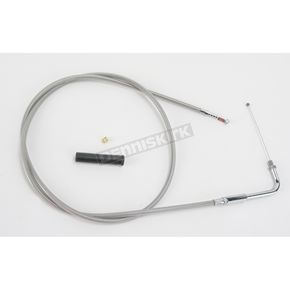 Drag Specialties Alternative Length Stainless Steel Idle Cable for Custom Height/Width Handlebars - 0651-0634