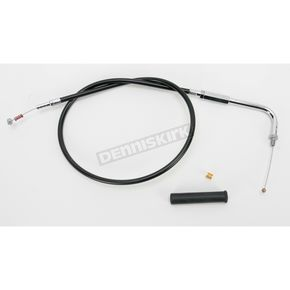 Drag Specialties Alternative Length Black Vinyl Idle Cable for Custom Height/Width Handlebars - 0651-0643