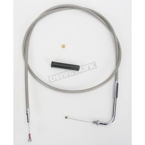 Drag Specialties Alternative Length Stainless Steel Idle Cable for Custom Height/Width Handlebars - 0651-0646