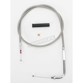 Drag Specialties Alternative Length Stainless Steel Idle Cable for Custom Height/Width Handlebars - 0651-0648