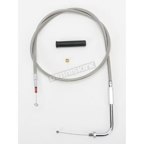 Drag Specialties Alternative Length Stainless Steel Idle Cable for Custom Height/Width Handlebars - 0651-0650