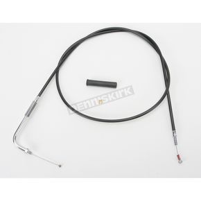 Drag Specialties Alternative Length Black Vinyl Idle Cable for Custom Height/Width Handlebars - 0651-0651