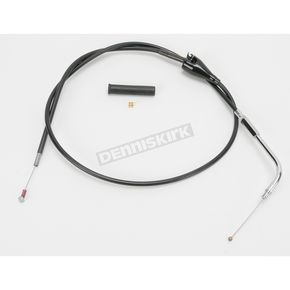 Drag Specialties Alternative Length Cruise Control Black Vinyl Idle Cable for Custom Height/Width Handlebars  - 0651-0663