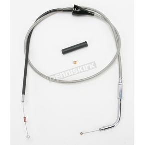 Drag Specialties Alternative Length Cruise Control Stainless Steel Idle Cable for Custom Height/Width Handlebars  - 0651-0666