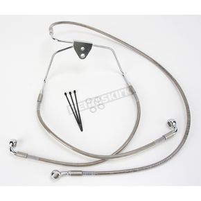 Drag Specialties Front Extended Length Braided Stainless Steel Brake Line Kit +10 in. - 1741-2628