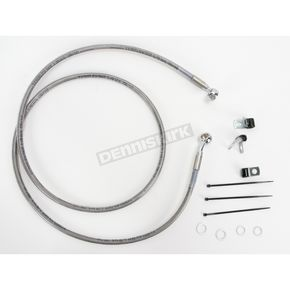 Drag Specialties Front Extended Length Braided Stainless Steel Brake Line Kit +8 in. - 1741-2652