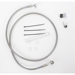 Drag Specialties Front Extended Length Braided Stainless Steel Brake Line Kit +4 in. - 1741-2655