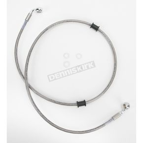 Drag Specialties Front Extended Length Braided Stainless Steel Brake Line Kit +4 in. - 1741-2669