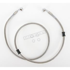 Drag Specialties Front Extended Length Braided Stainless Steel Brake Line Kit +6 in. - 1741-2670