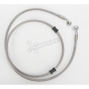 Drag Specialties Front Extended Length Braided Stainless Steel Brake Line Kit +10 in. - 1741-2672