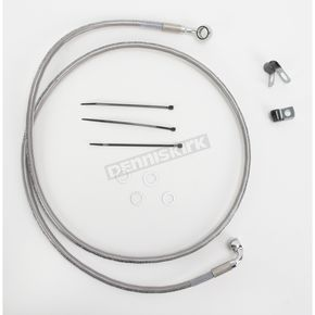 Drag Specialties Front Extended Length Braided Stainless Steel Brake Line Kit +8 in. - 1741-2673