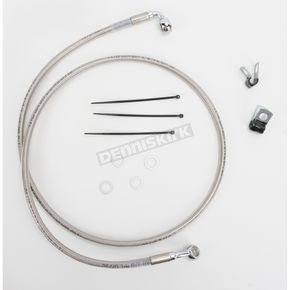 Drag Specialties Front Extended Length Braided Stainless Steel Brake Line Kit +4 in. - 1741-2676