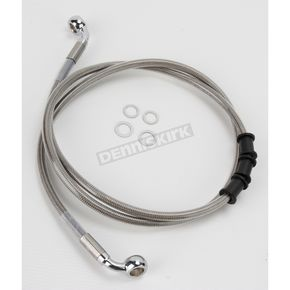 Drag Specialties Front Extended Length Braided Stainless Steel Brake Line Kit +8 in. - 1741-2844