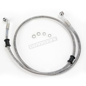 Drag Specialties Front Standard Length Clear-Coated Braided Stainless Steel Brake Line Kit - 1741-2912