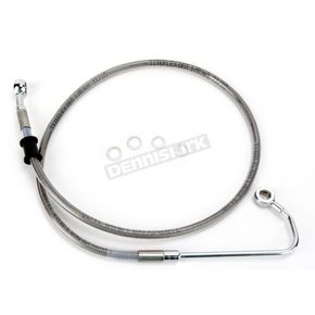 Drag Specialties Front Extended Length Braided Stainless Steel Brake Line Kit +4 in. - 1741-2977