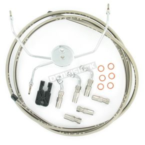 Magnum Custom Sterling Chromite II Designer Series Build Your Own Braided Stainless Steel Dual Disc DOT Brake Line Kit with 7 foot Brake Line - 390935A